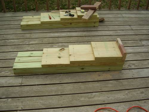 Wooden car ramps